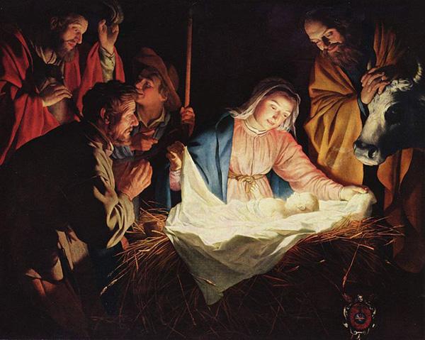 """L'Adoration des bergers"" de Gerrit van Honthorst"