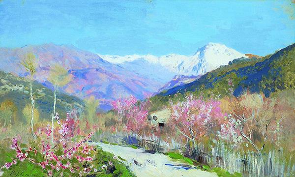 """Spring in Italy"" de Isaac Levitan"